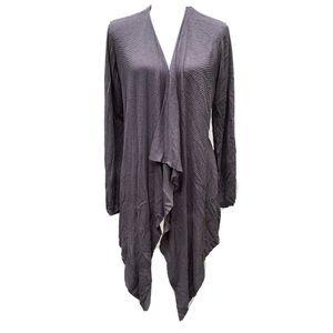 Torrid drape front gray cardigan